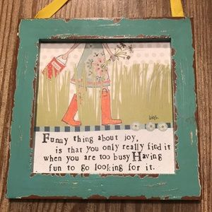Funny thing about joy...gallery wall plaque